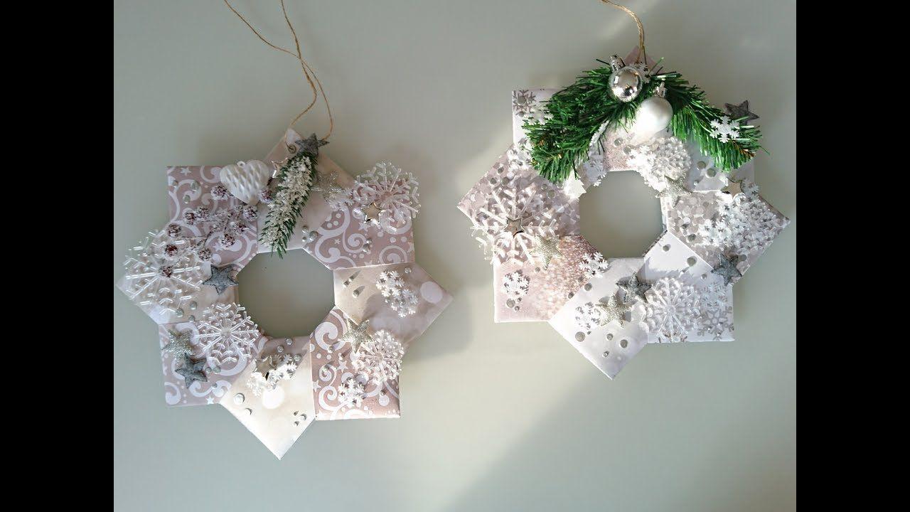 Diy weihnachtsdeko t rkranz aus papier 1 b youtube for Weihnachtsideen dekoration