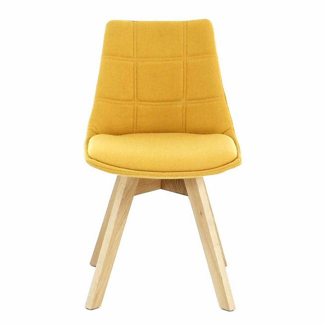joy chaise jaune moutarde avec pitement en bois design scandinave - Chaise Jaune Scandinave