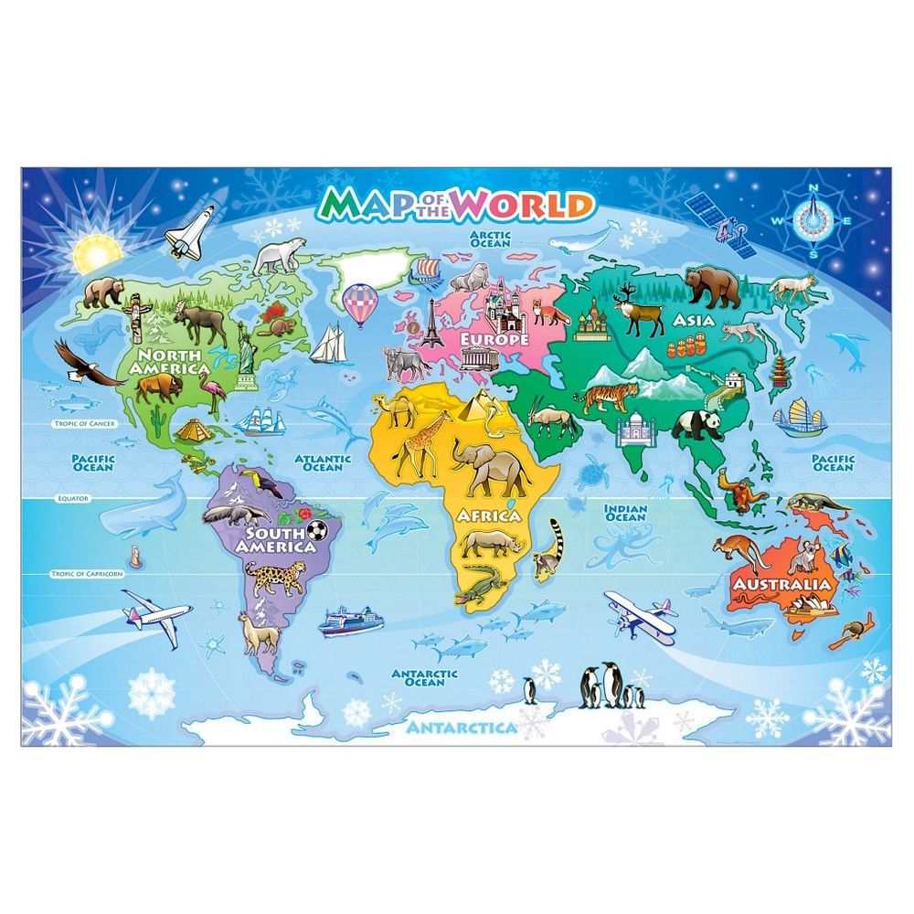 Cobble hill map of the world floor puzzle products cobble hill map of the world floor puzzle gumiabroncs Gallery