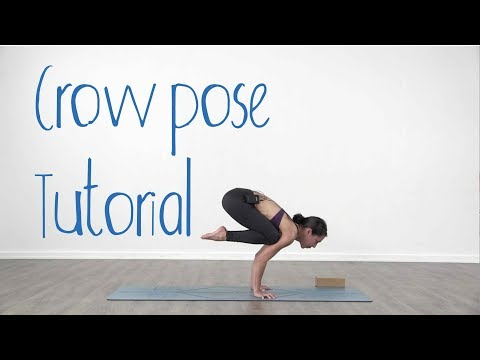 crow pose yoga tutorial  bakasana for beginners  youtube