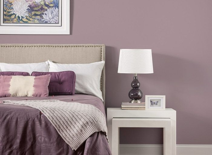 Couleur mauve – 50 nuances de violet | art | Mauve bedroom, Bedroom ...