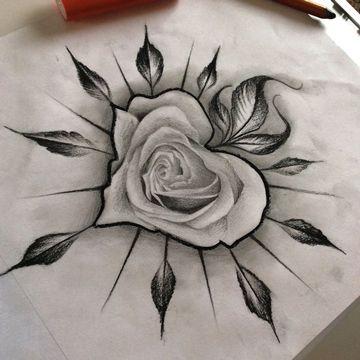 Dibujos De Rosas Para Tatuaje En Corazon Tatuajes Para Mujeres