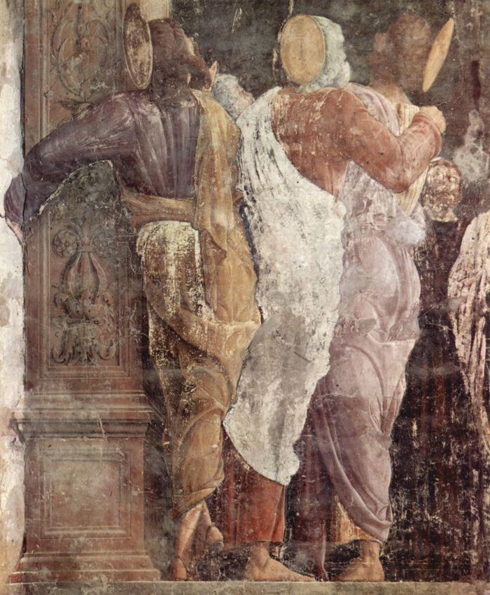 Andrea Mantegna, Assunzione della Vergine, (dettaglio), 1453-1457, affresco staccato, chiesa degli Eremitani, Padova