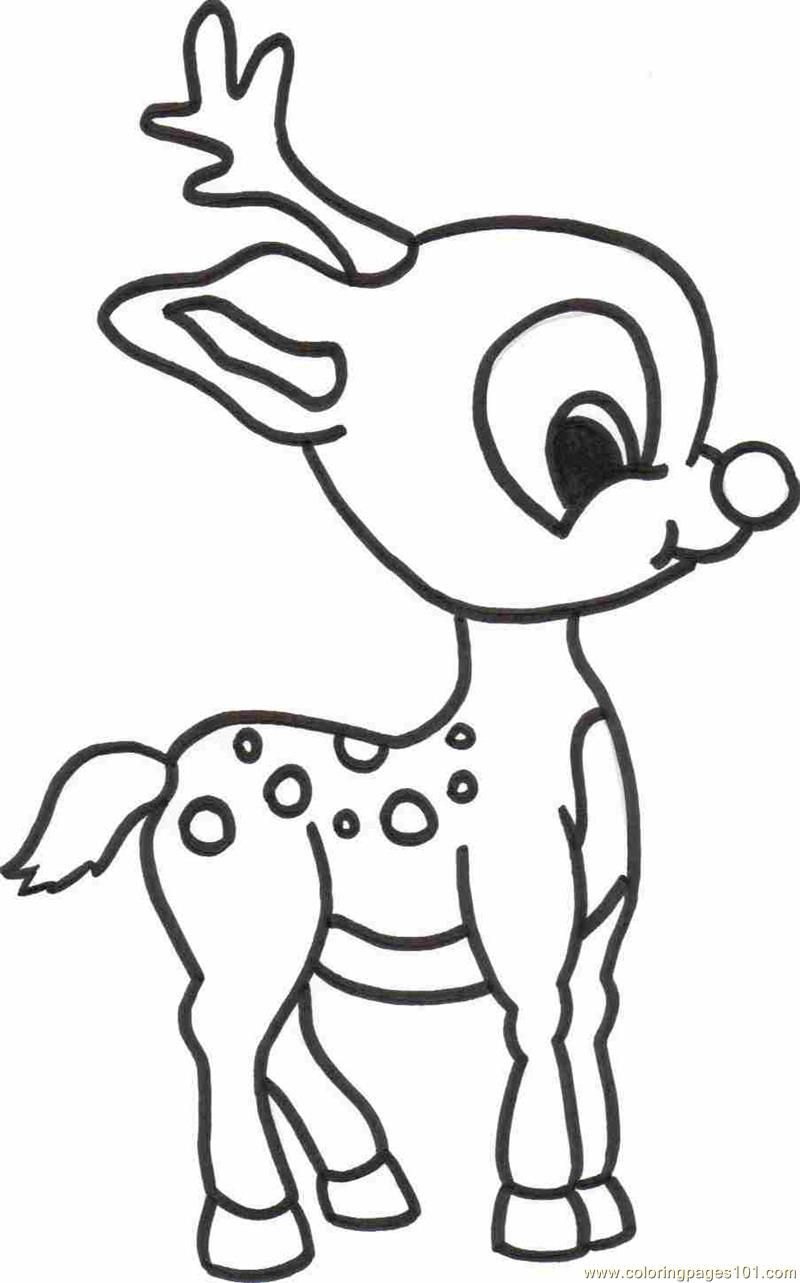 Deer Hunting Coloring Pages To Print Deer fawn colouring pages ...