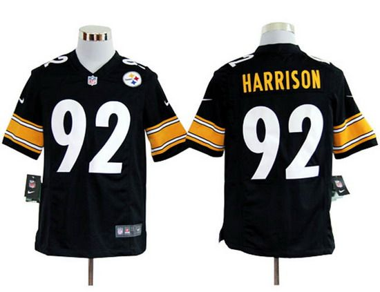 51d5fec6b22 ... discount nike steelers 92 james harrison black team color mens nfl game  jersey 18acf 25e50