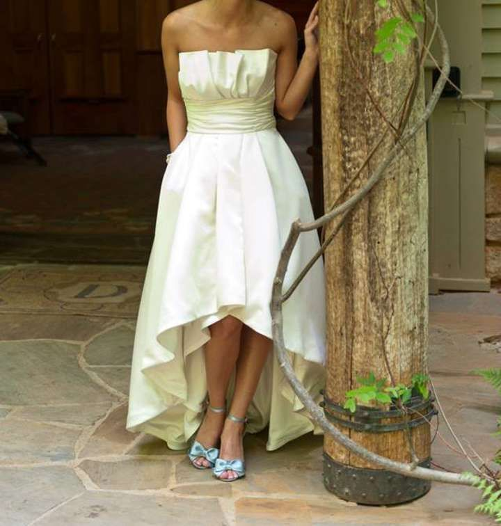 Strapless High Low Gown Wedding Dress GownWhite House BlackHigh