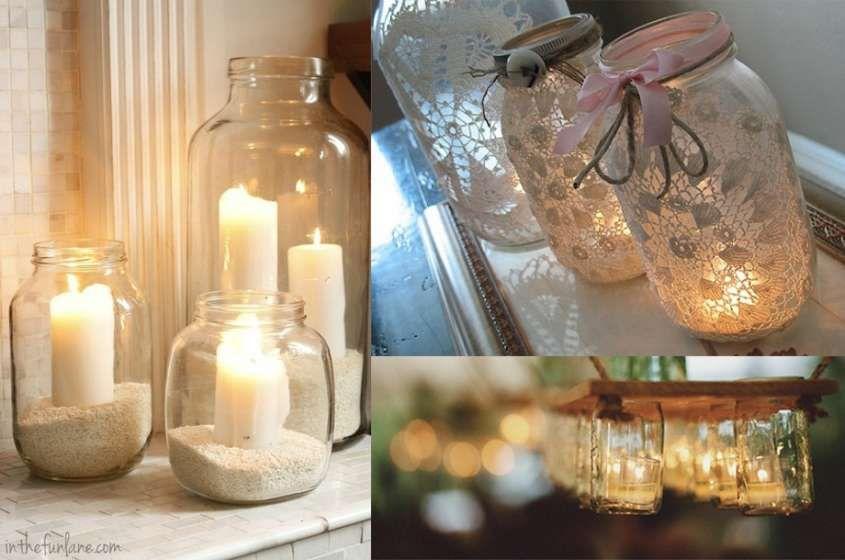 Decorare casa con i barattoli di vetro barattoli con candela - Decorare casa con candele ...