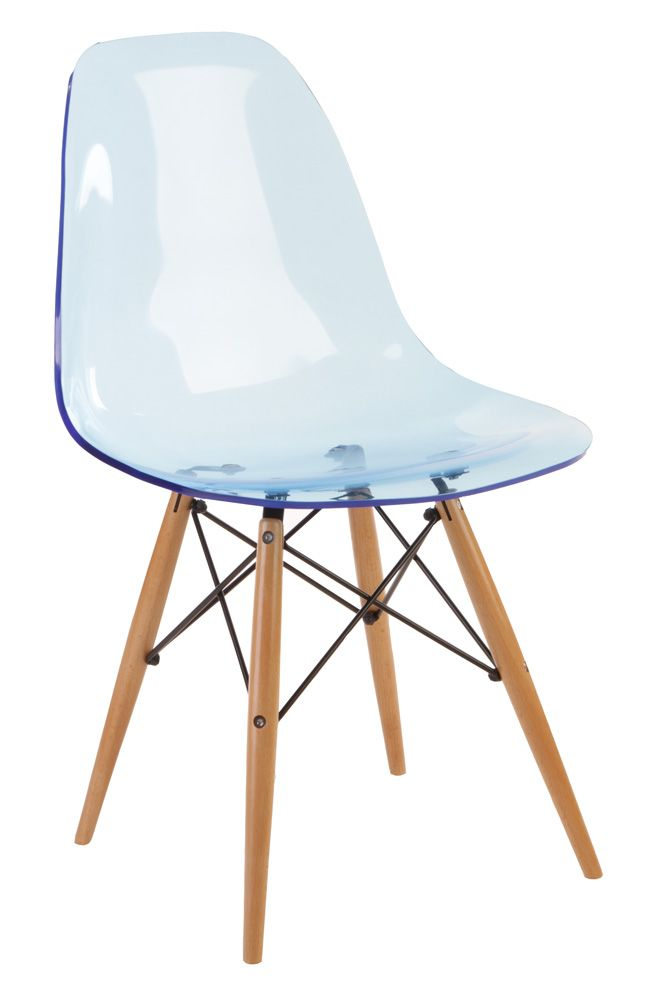Replica eames dsw side chair acrylic by charles and ray for Reproduction eames dsw