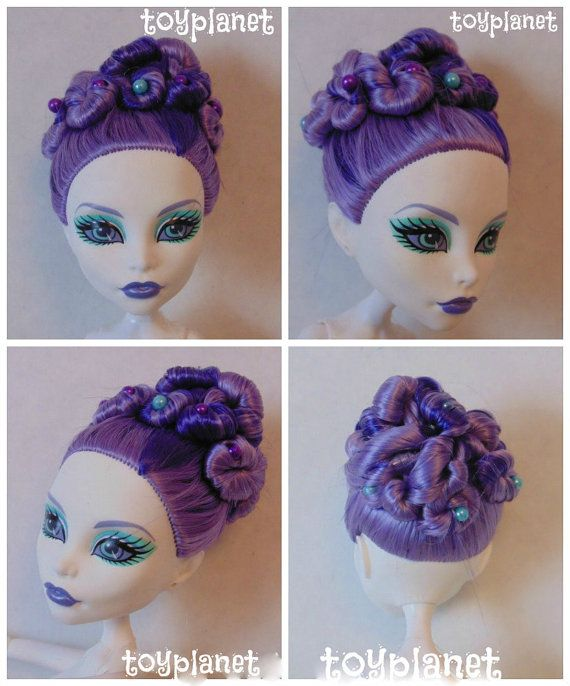 OOAK Custom Monster High Doll SPECTRA Vondergeist By TOYPLANET - Monster high dress up games spectra hairstyle