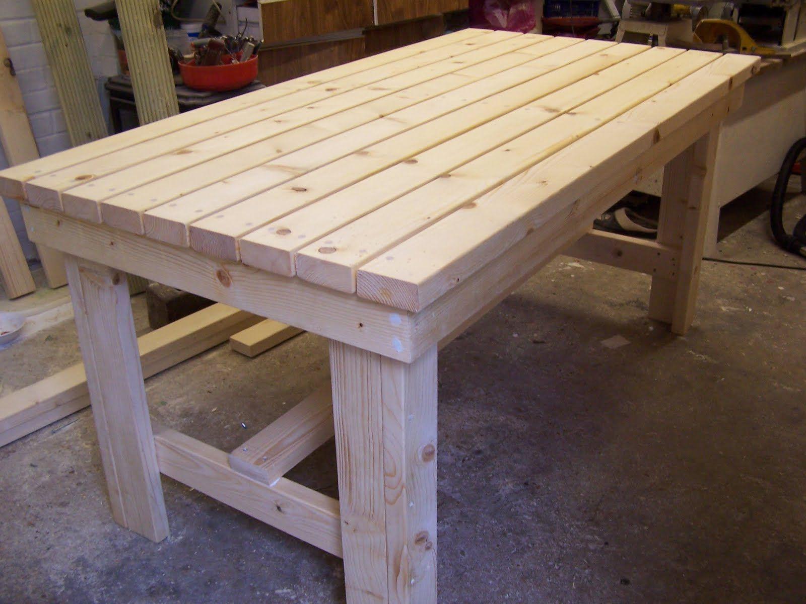Mesa palets decoracion mesas mesas de madera y mesas con palets - Mesa de palets bricolaje ...