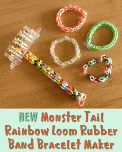 New Monster Tail Rainbow Loom Rubber Band bracelet maker