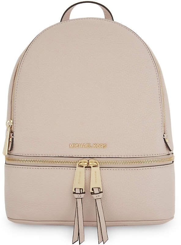 e443438d3be8 usa michael michael kors rhea medium leather backpack 8f403 525d7