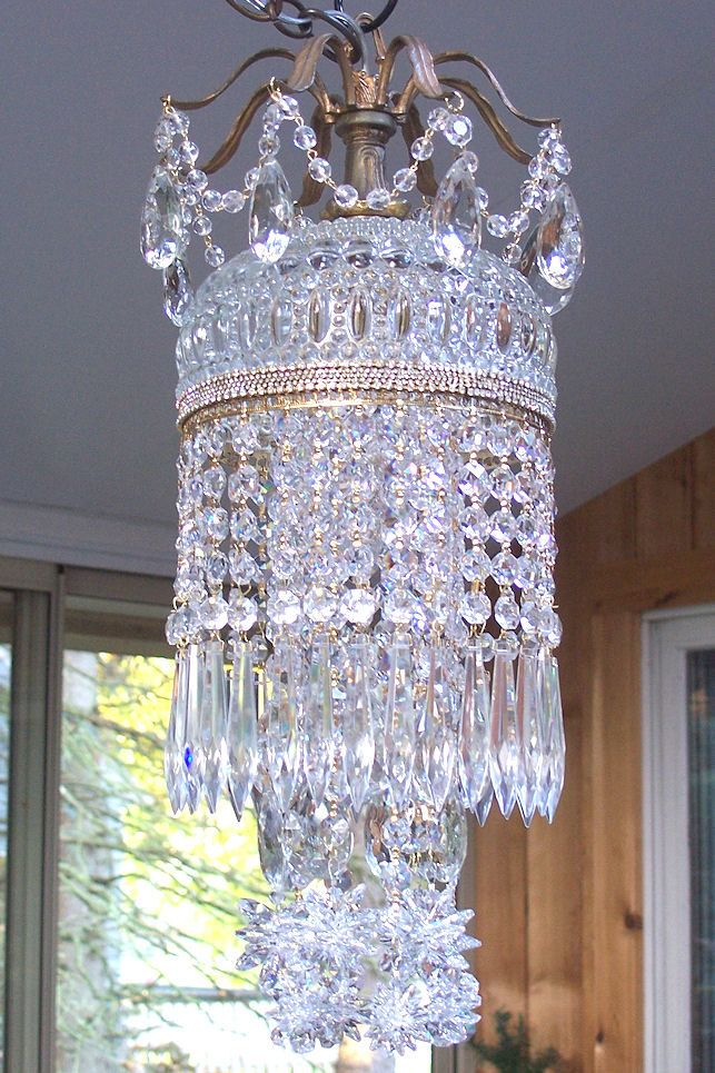Jeweled vintage crystal waterfall chandelier lighting pinterest jeweled vintage crystal waterfall chandelier aloadofball Gallery