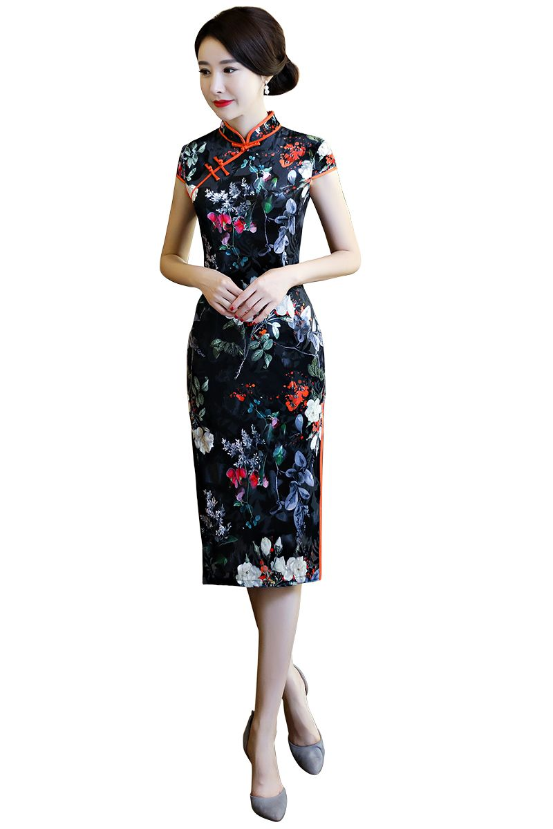 acbf208d9 Click to Buy << Shanghai Story Faux Silk Qipao Chinese Dress Flower Print  chinese style dress Chinese Oriental dress Woman's cheongsam #Affiliate
