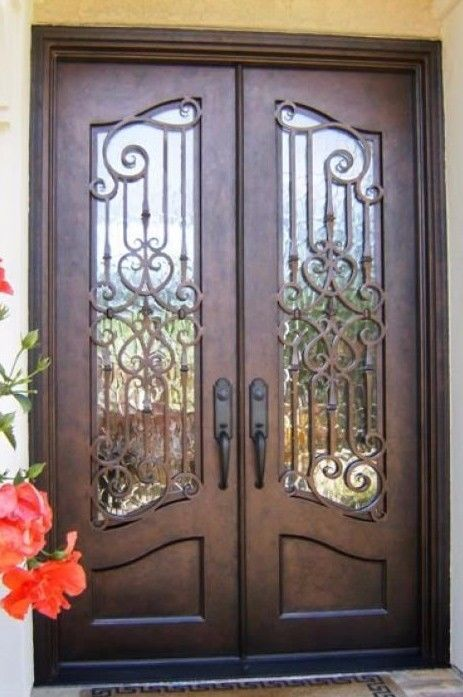 Hand Crafted 72 X 96 Wrought Iron Entry Doors 3 485 All In 12 Gauge Iron Iron Entry Doors Wrought Iron Doors Wrought Iron Entry Doors