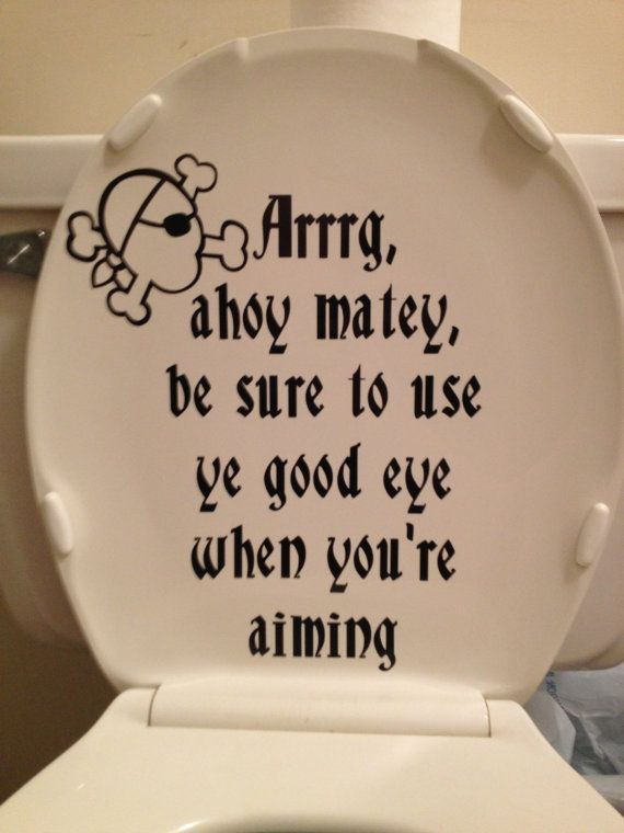 Pirate Message Toilet Lid Design On Etsy 15 00 Boy