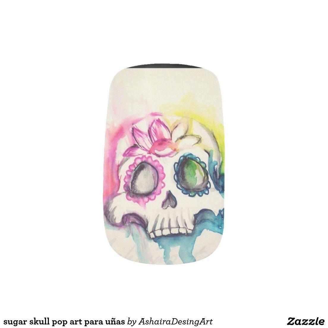 to sugar skull MGP art for nails Minx Nail Art   Minx nails, Sugar ...