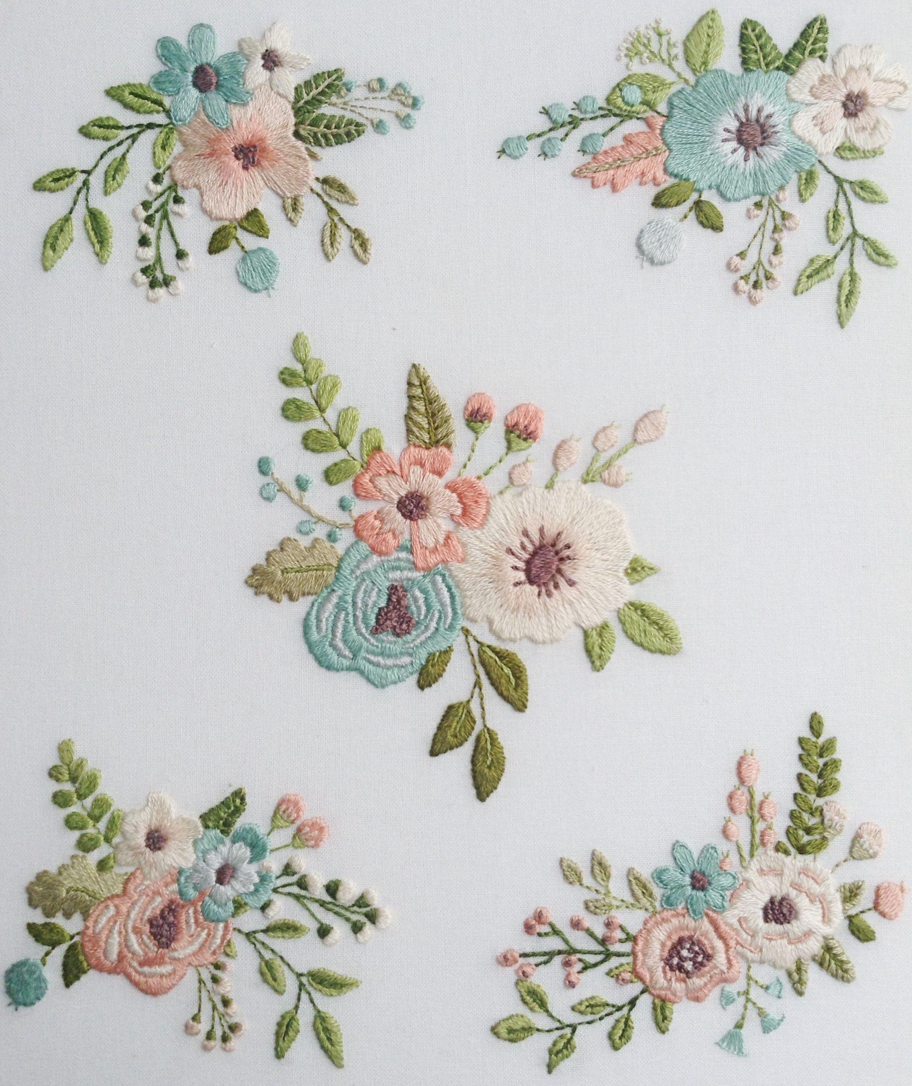 Flower Extraordinaire Sampler Hand Embroidery Pattern   Hand ...