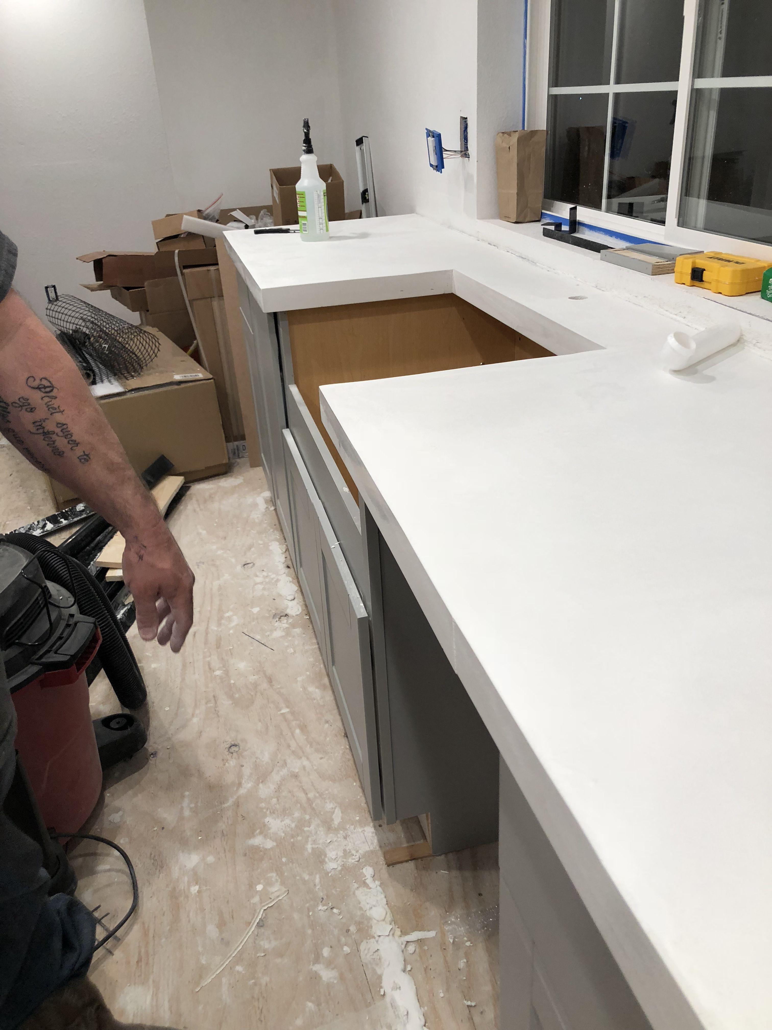 Best Pin By Bridgette Suzette On White Concrete Countertops 640 x 480