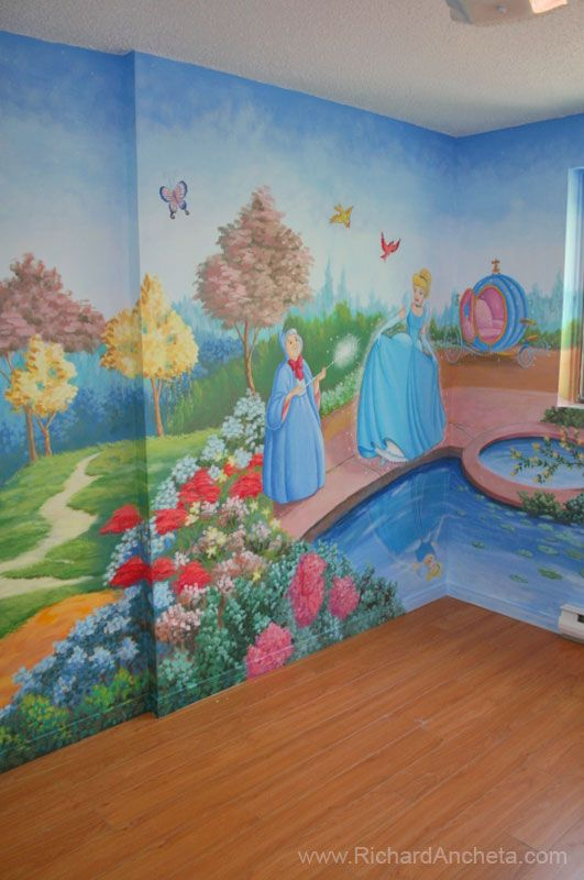 Children Mural Disney Princess Cinderella Part 62
