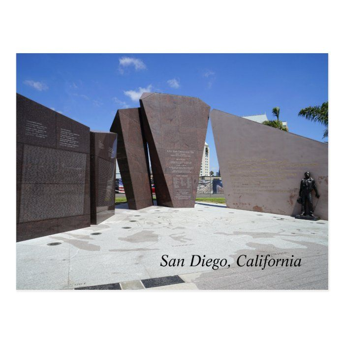 Memorial to the USS San Diego, one of the most decorated US ships of World War II.