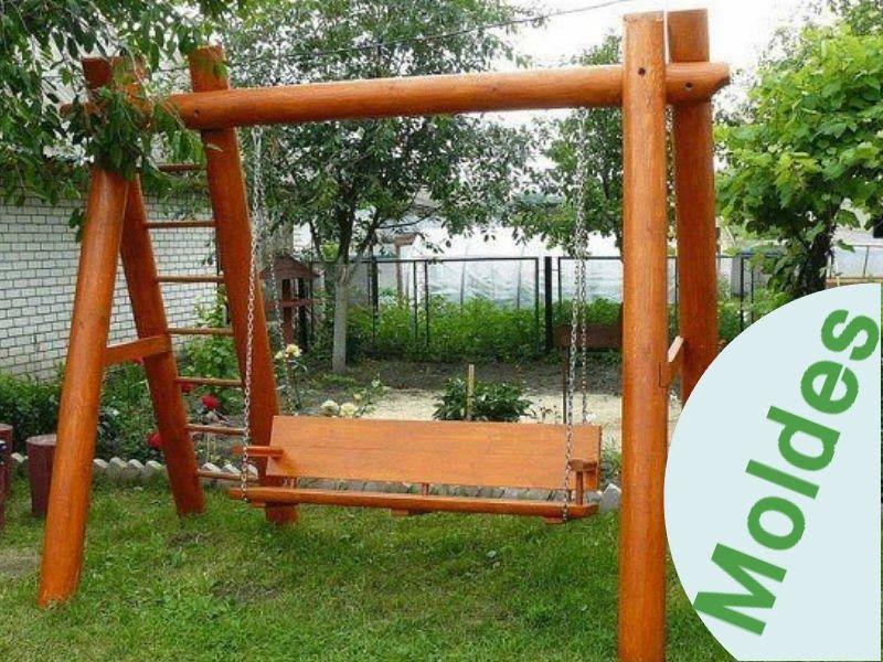 Ideas para el hogar columpio de madera para los chicos for Columpios de madera para jardin