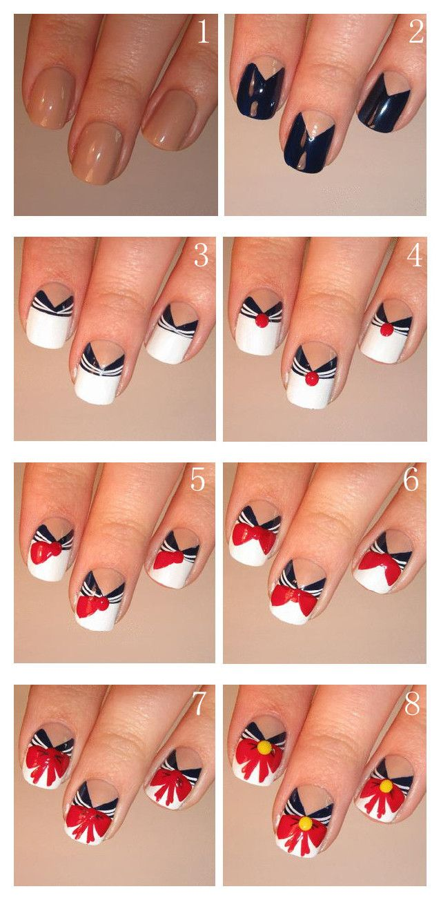 sailor moon nails! except for chibi moon. :) | つめ♡ | Pinterest ...