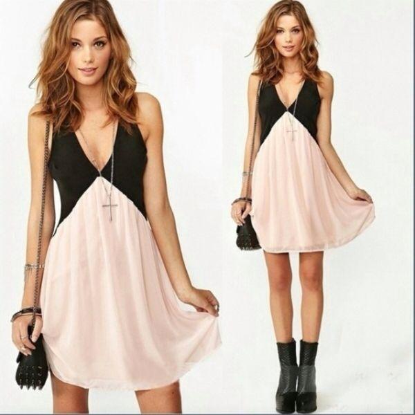 Kleiderkorb.de :: Tolles Kleid Chiffon mit Unterkleid 32-36 rosa ...