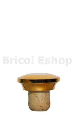 Uzáver Cognac - 36/17x48/25 zlatá plastkork, eshop.bricol.sk