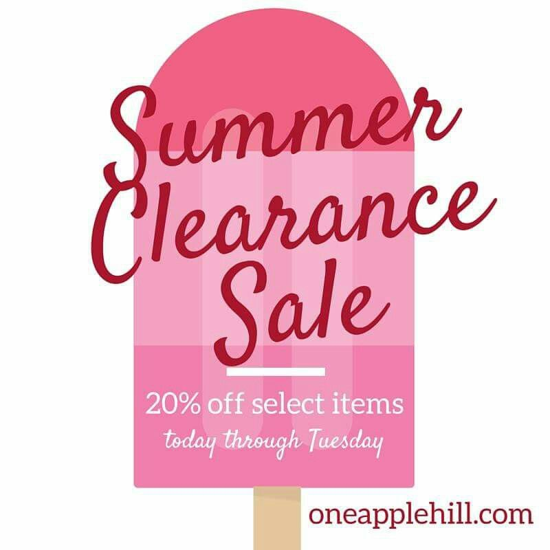 Labor Day blow out sale is on at oneapplehill.com