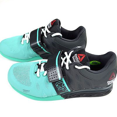 NEW Reebok CrossFit Lifter 2.0 Women s Powerlifting Shoes Gray Teal Black  M40702 3a1c51b07f