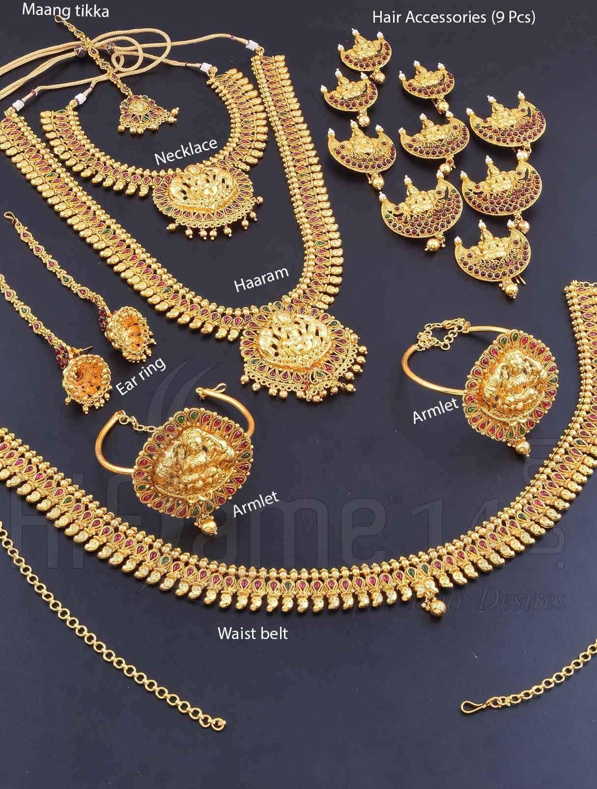 Wedding Jewellery Set With Ashta Lakshmi Design Indian Bridal