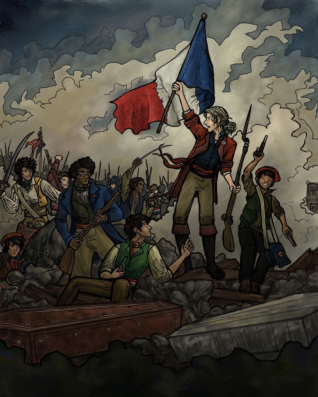 Liberty Leading Les Miserables Based On That One Painting By