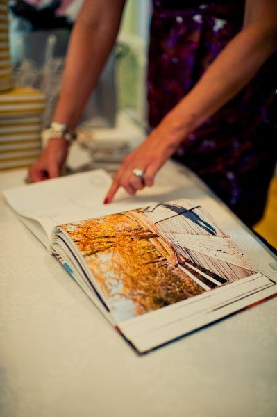 Register for a coffee table book that has some type of meaning to you and your hubbie and have guests sign the pages:)