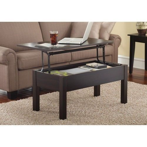 Storage Coffee Table Lift Top Brown Espresso Laptop Tv Dinner Tray Multifunction 125