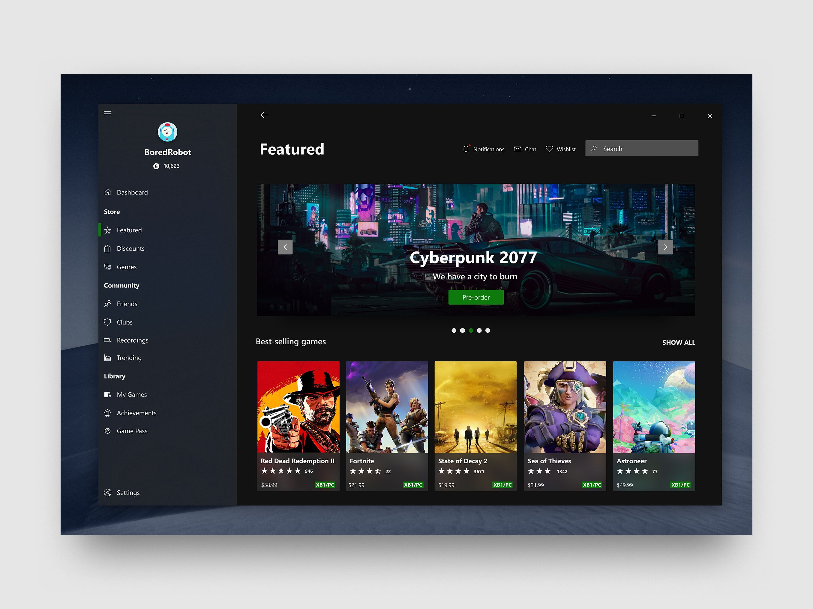 Windows 10 Xbox app Windows 10, 10 things, Desktop design