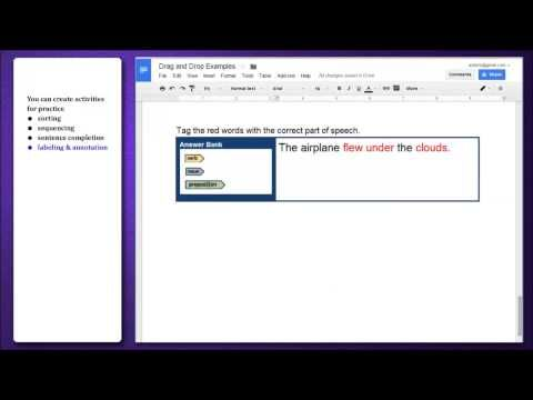 How to make your own drag-and-drop activity with Google Docs
