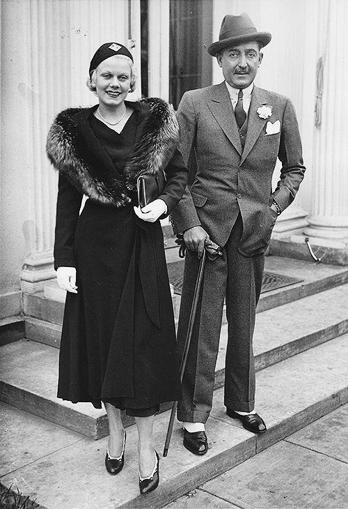 Jean Harlow & husband, Paul Bern, 1932