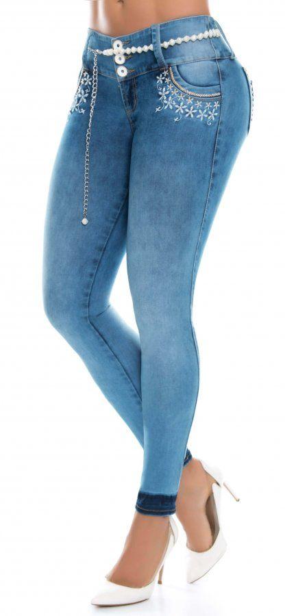Jeans levanta cola NYE 62985 Azul   Pantalones de ...