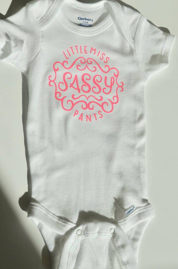 4c7b0f30 Little Miss Sassy Pants Onesie - Custom Onesie - Bodysuit - Baby Girl - Baby  Shower Gift - BrittanyLynDesigns.etsy.com #BrittanyLynDesigns ...