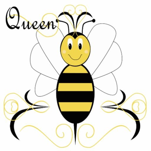 Smiling Bumble Bee Queen Ornament