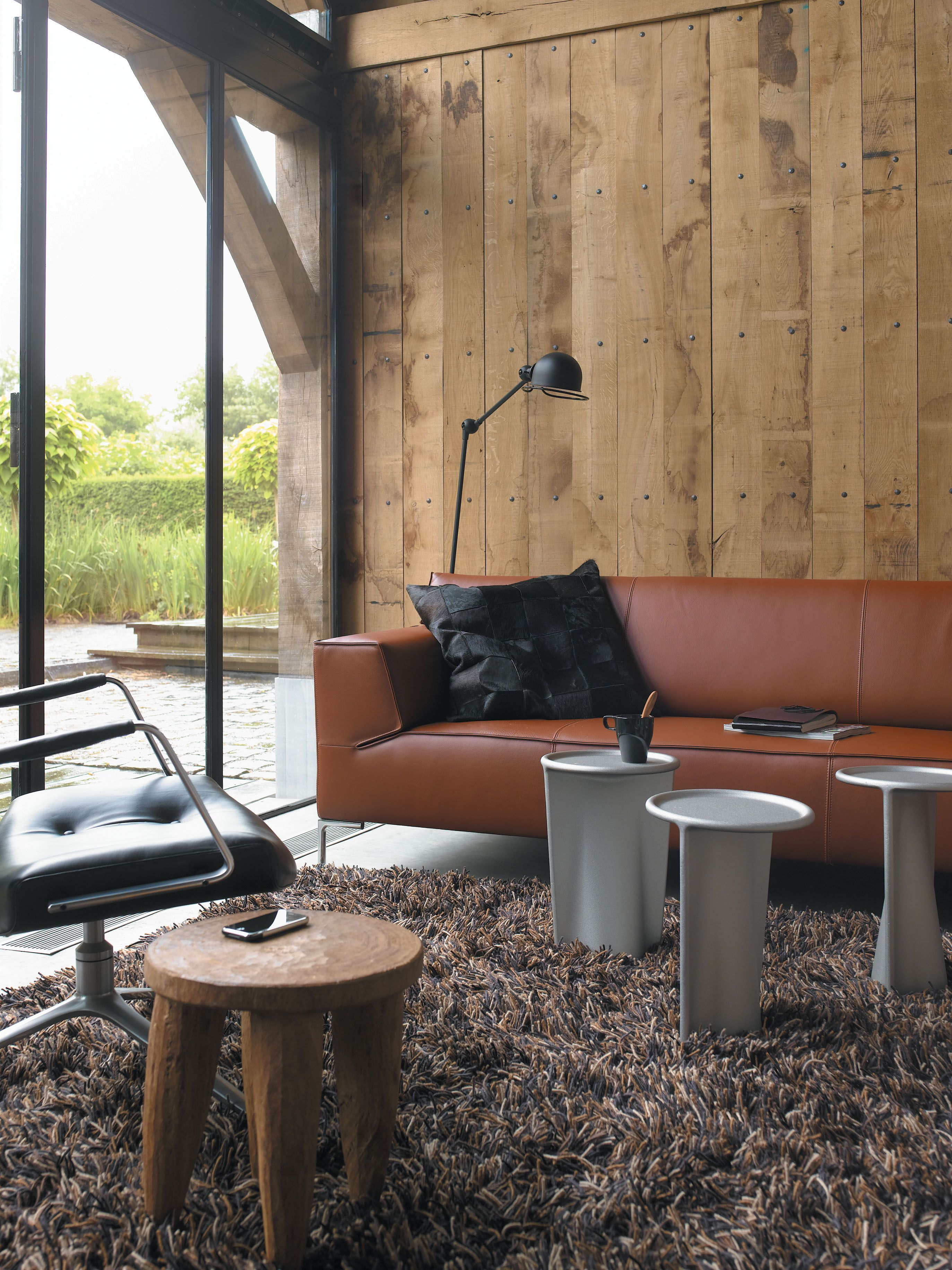 Design Bank Roderick Vos.Bloq Sofa By Roderick Vos Shown In Basque 32 Rust