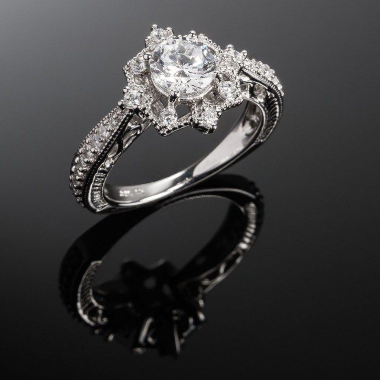 Star Shaped Engagement Ring Birthstone If You Love Your