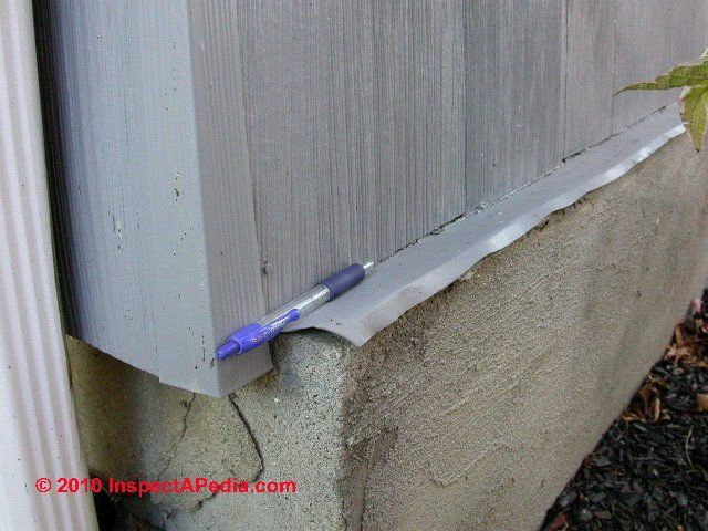 Guide To Siding Or Wall To Slab Or Foundation Top Flashing
