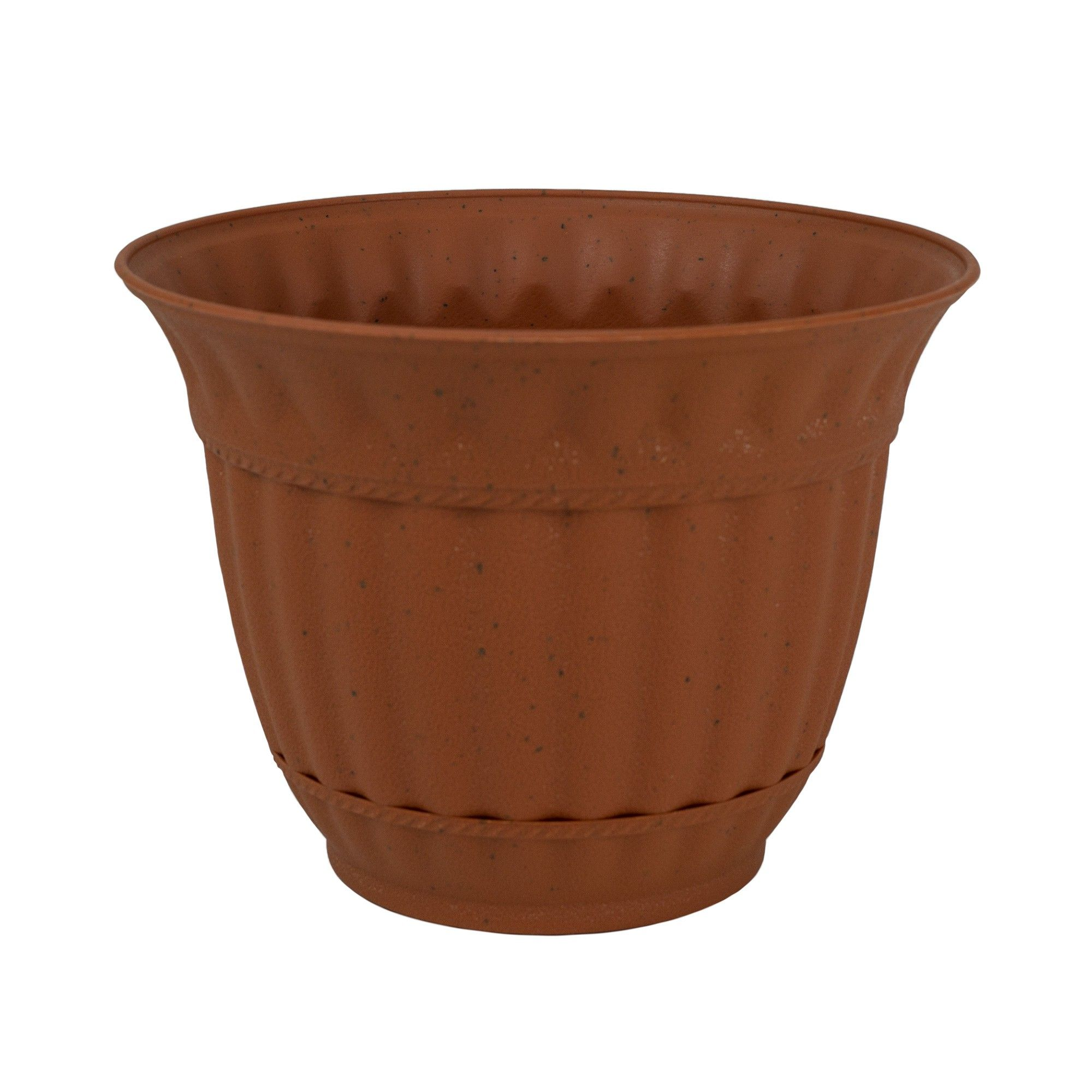 Misco 6 Inch Sienna Burn Plastic Attached Saucer Milano Flower Pot Or Garden Planter Con Imagenes