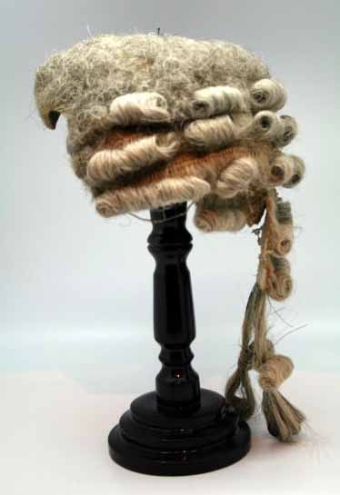 a87ec298b44829 c.1770 powdered wig w/ original wood stand   American Colonial ...