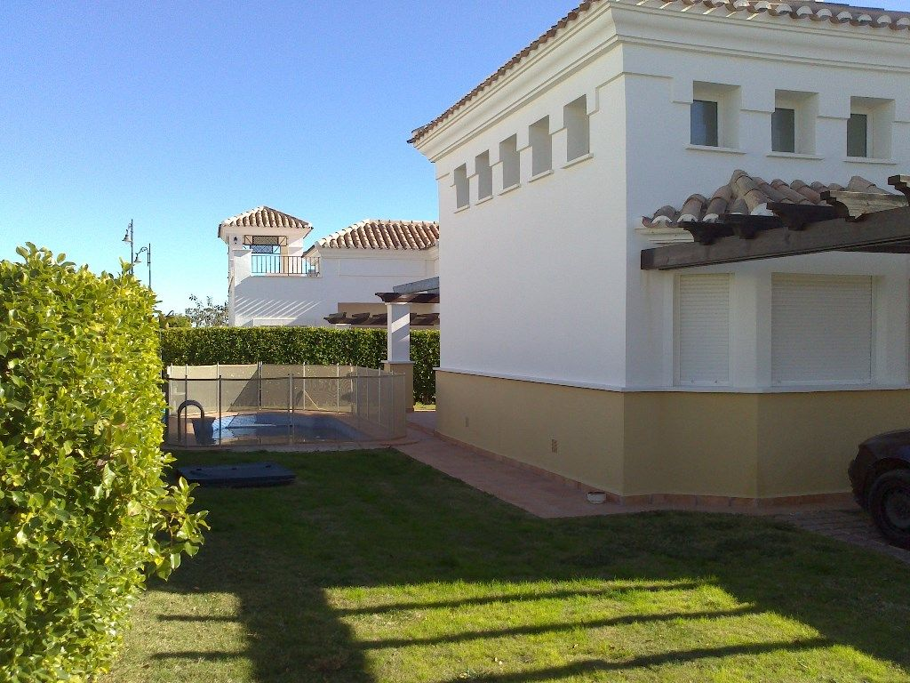 This two bedroom detached villa is distributed on one floor with two bathrooms.  It is on a large plot and has the benefit of a private 6×3 swimming pool. #Murcia #Spain #CostaCalida #properties #sale