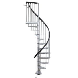 Best Dolle Toronto V3 9 Ft 3 In Galvanized Stair Kit Stair 640 x 480