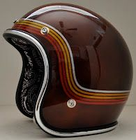Chemical Candy Customs Sold Distressed Amf Style Cafe Racer Helmet Retro Helmet Motorcycle Helmets