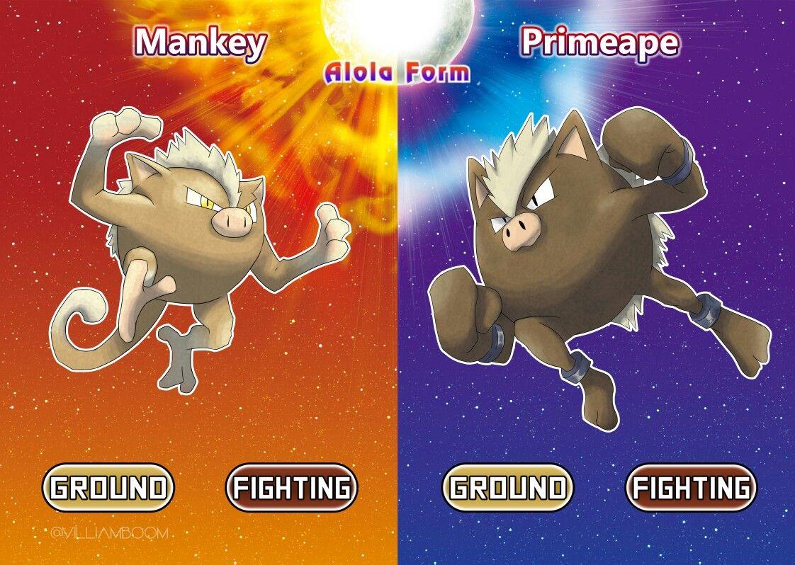 Tantrum Mankey With Images Pokemon Alola Pokemon Breeds